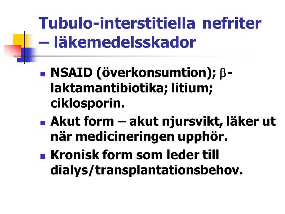 Tubulo-interstitiella nefriter – läkemedelsskador
