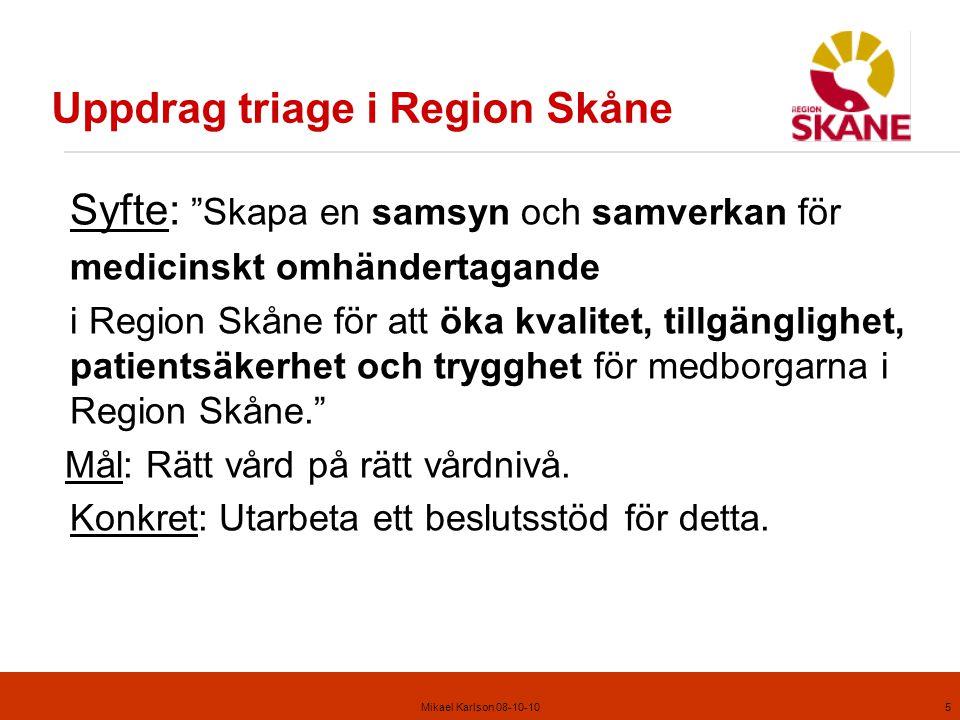 Uppdrag triage i Region Skåne
