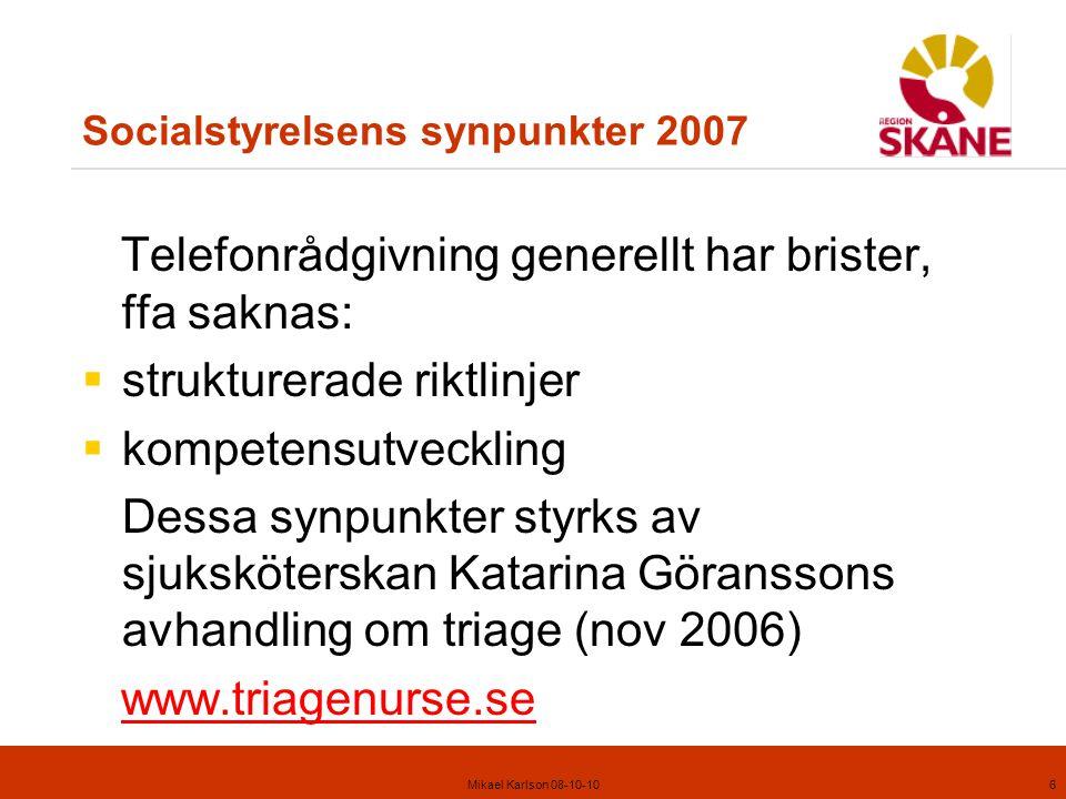 Socialstyrelsens synpunkter 2007
