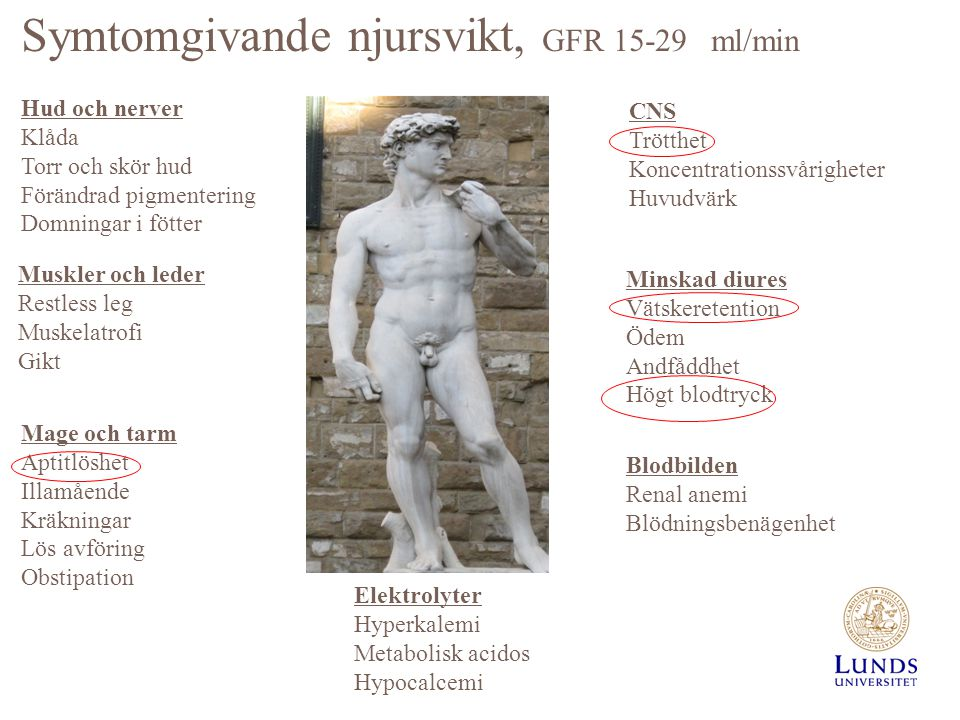 Symtomgivande njursvikt, GFR 15-29 ml/min