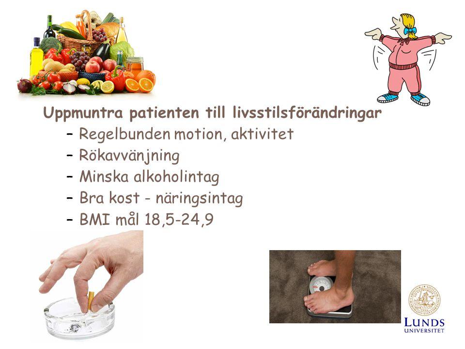 Uppmuntra patienten till livsstilsförändringar