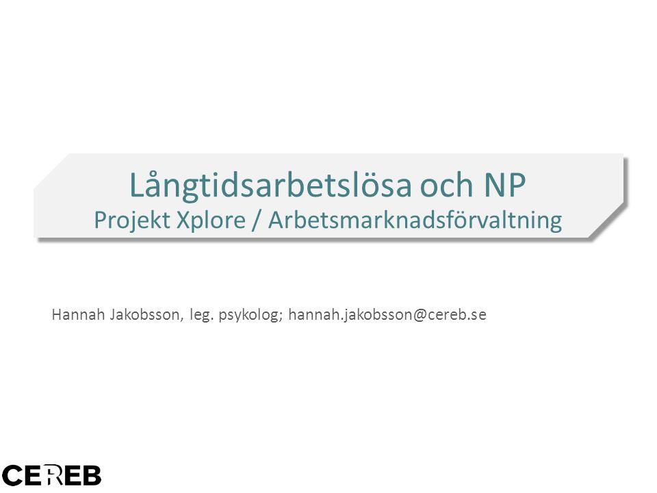 Hannah Jakobsson, leg. psykolog; hannah.jakobsson@cereb.se