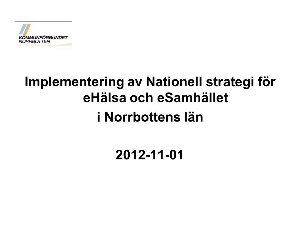 Implementering av Nationell strategi för eHälsa och eSamhället