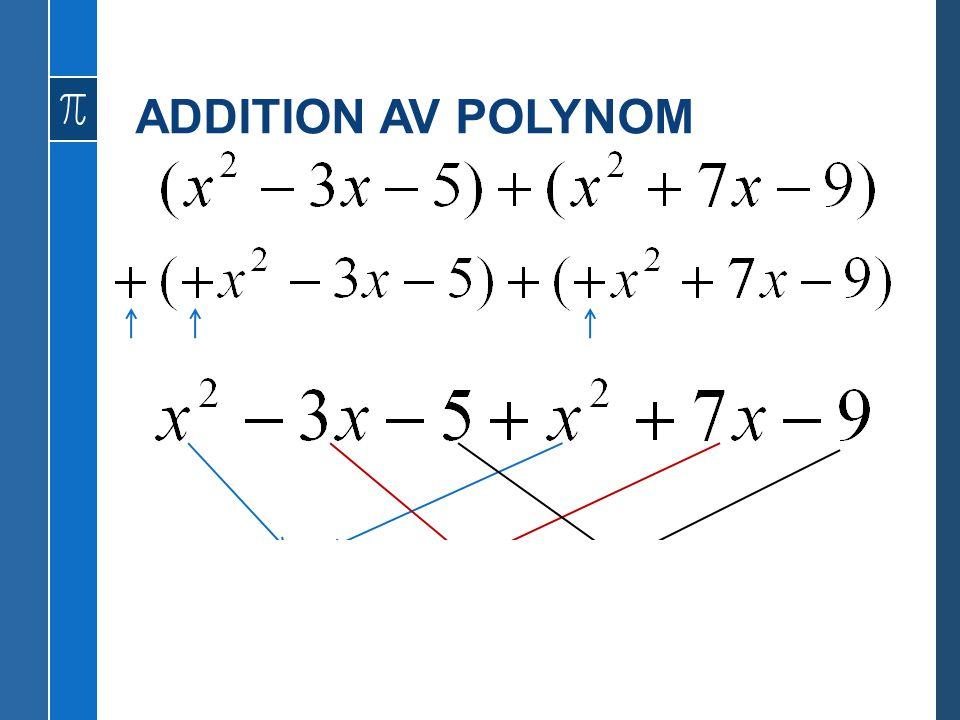 ADDITION AV POLYNOM