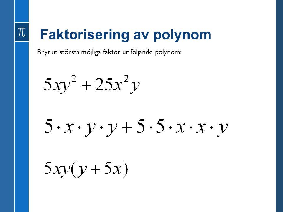 Faktorisering av polynom