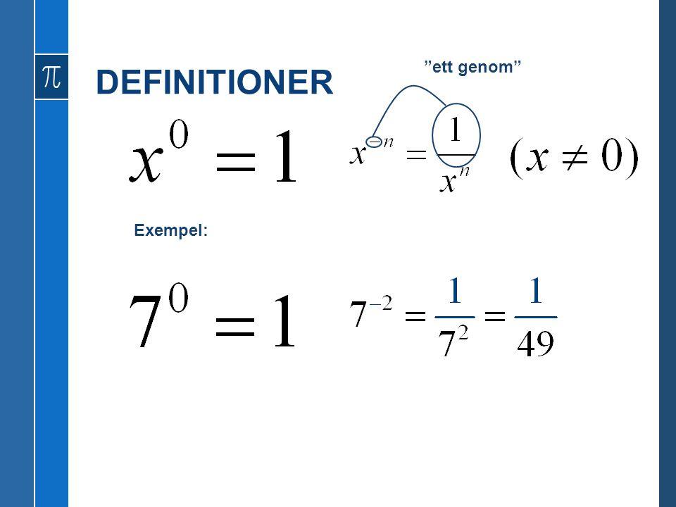 DEFINITIONER ett genom Exempel: