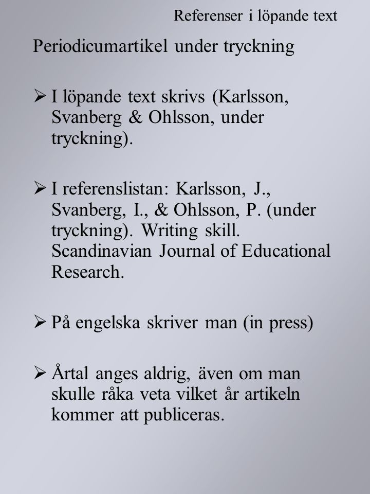 Periodicumartikel under tryckning