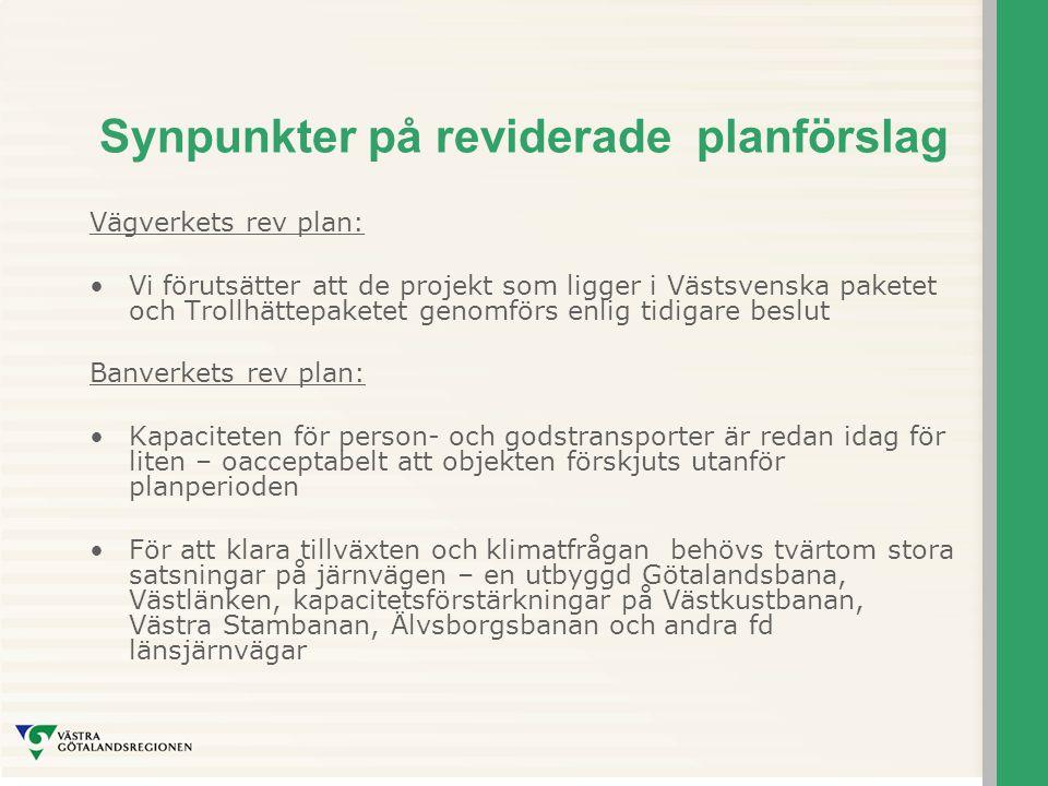 Synpunkter på reviderade planförslag