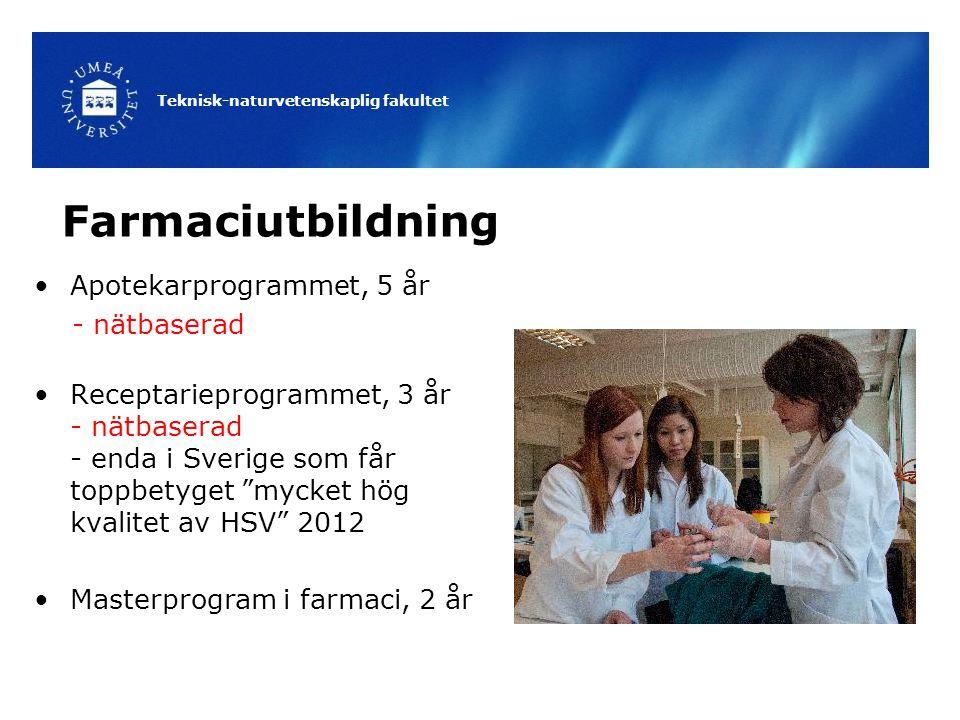 Farmaciutbildning Apotekarprogrammet, 5 år - nätbaserad