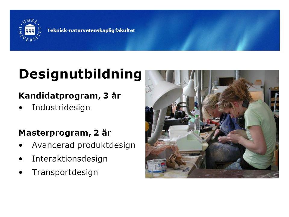 Designutbildning Kandidatprogram, 3 år Industridesign