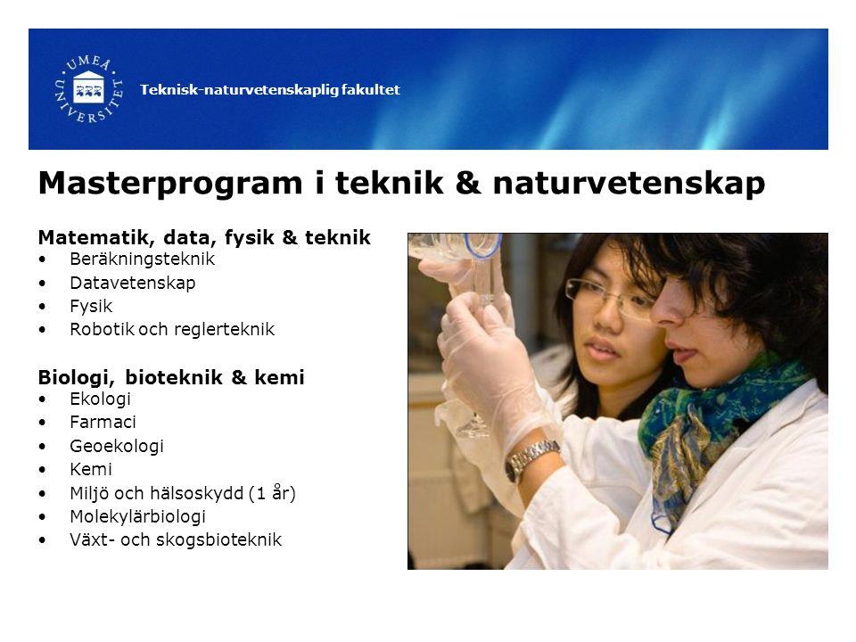 Masterprogram i teknik & naturvetenskap
