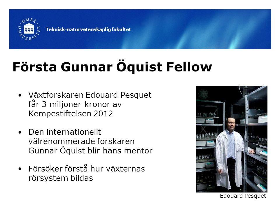 Första Gunnar Öquist Fellow