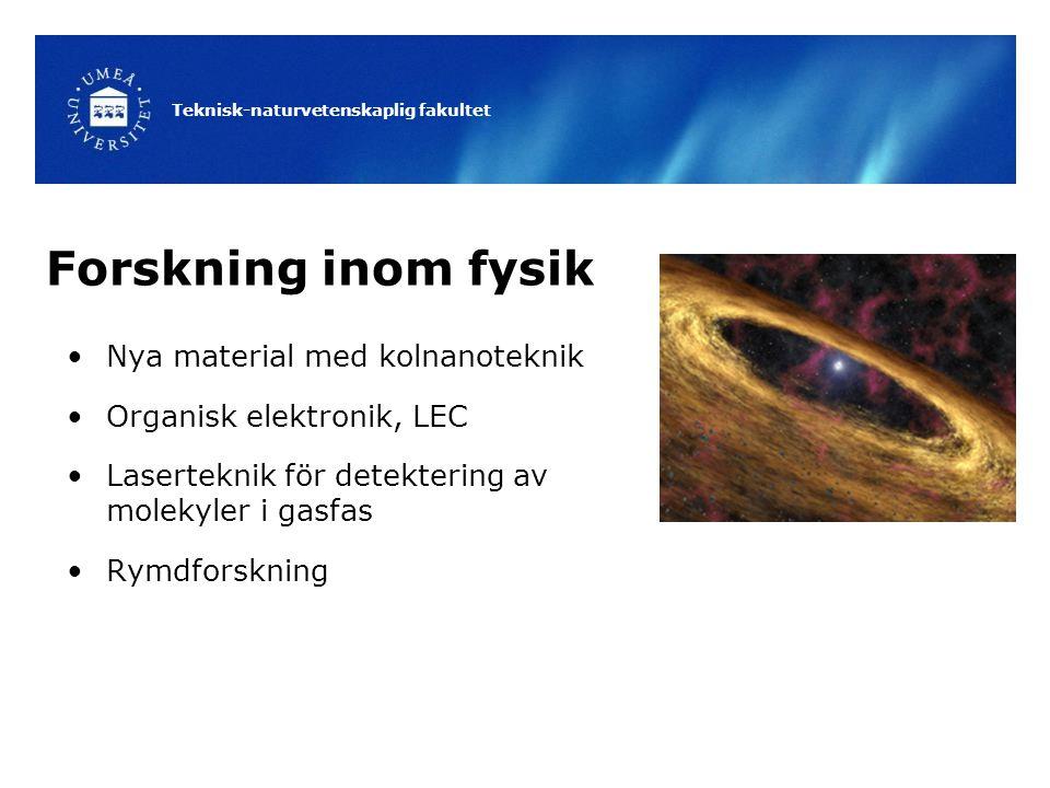 Forskning inom fysik Nya material med kolnanoteknik