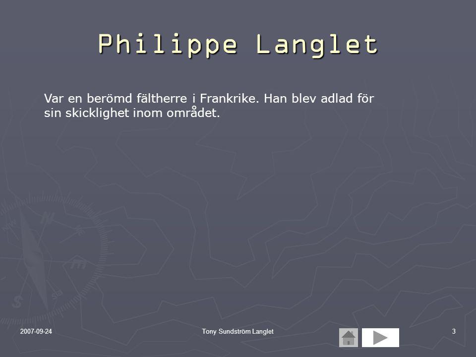 Tony Sundström Langlet