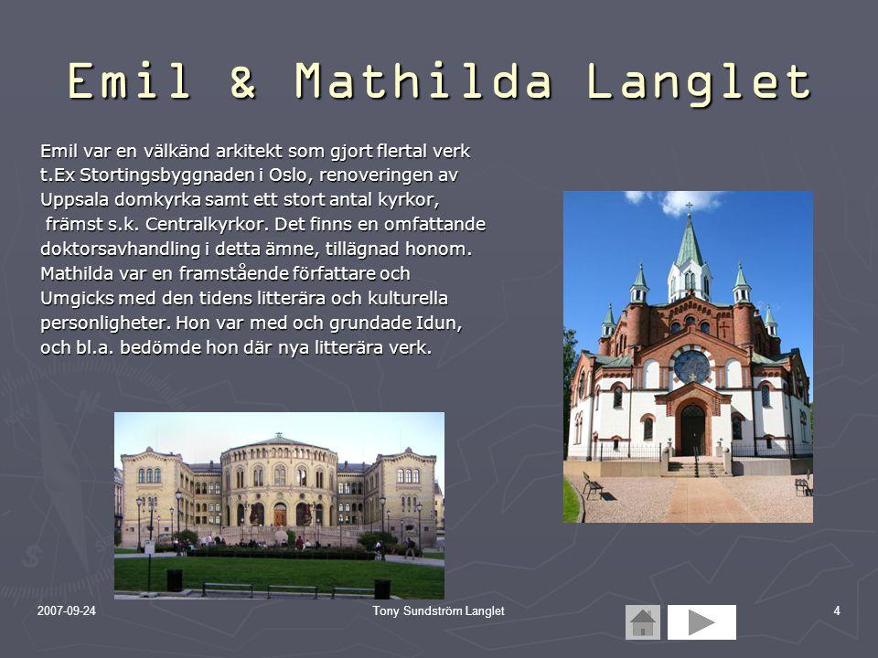 Emil & Mathilda Langlet