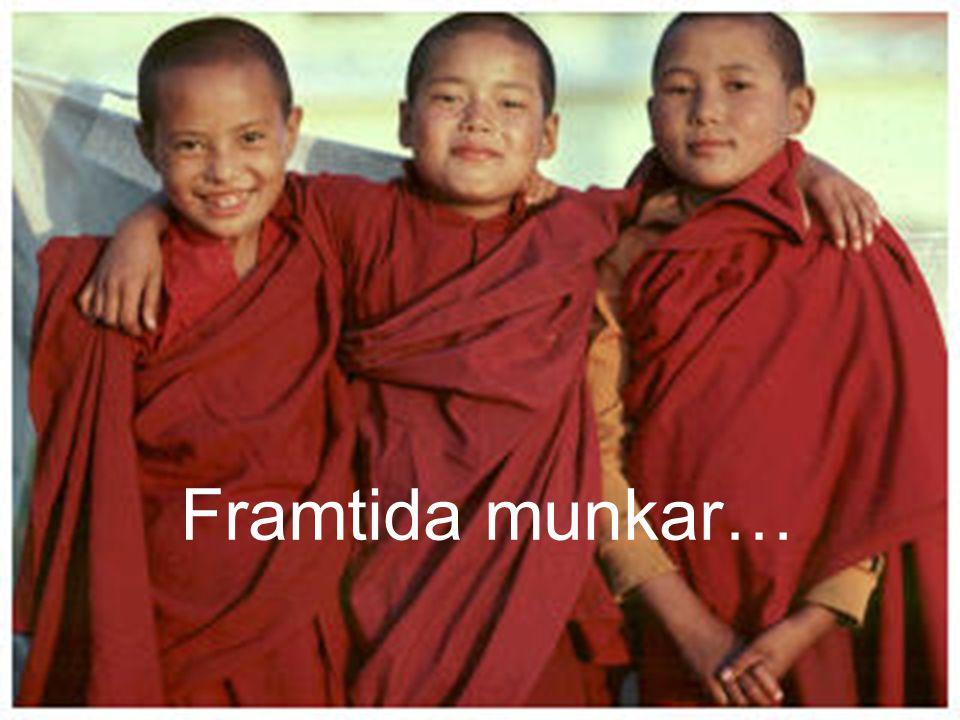 Framtida munkar… Barnen i byarna skickas till templet WAT för att gå i skola, men i klostret undervisas även nya munkar från en tidig ålder.