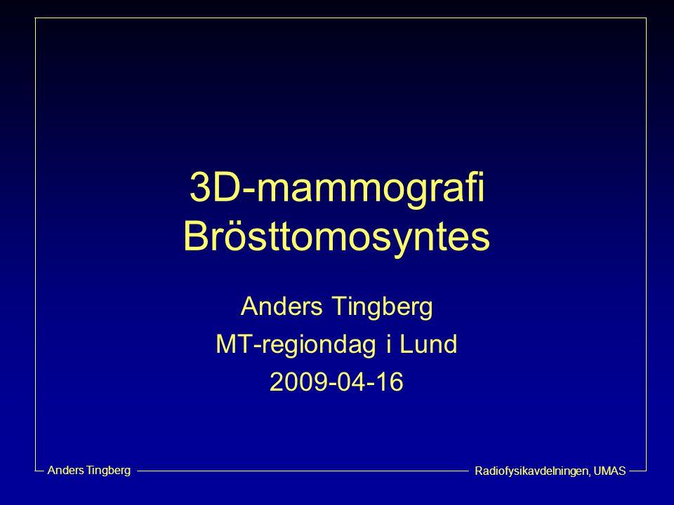 3D-mammografi Brösttomosyntes