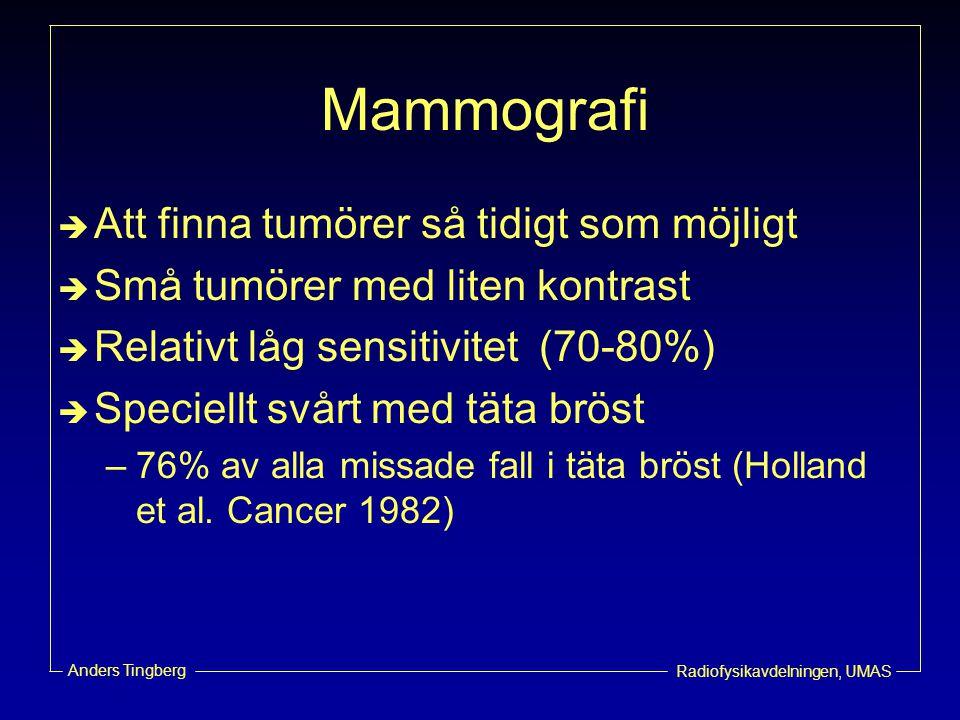 Mammografi Att finna tumörer så tidigt som möjligt
