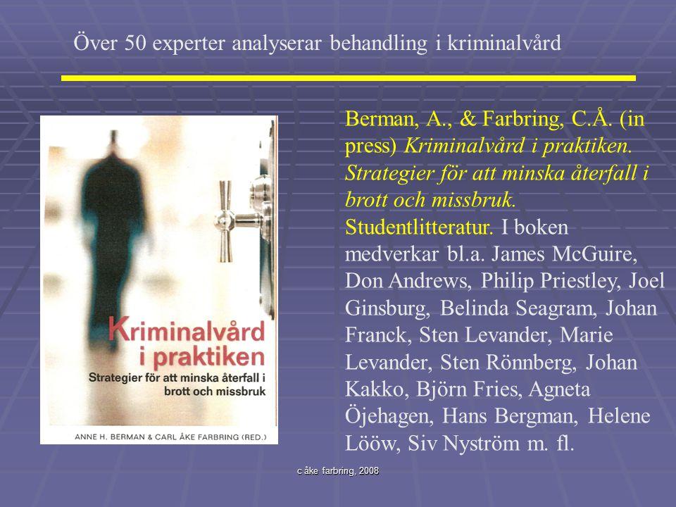 Över 50 experter analyserar behandling i kriminalvård