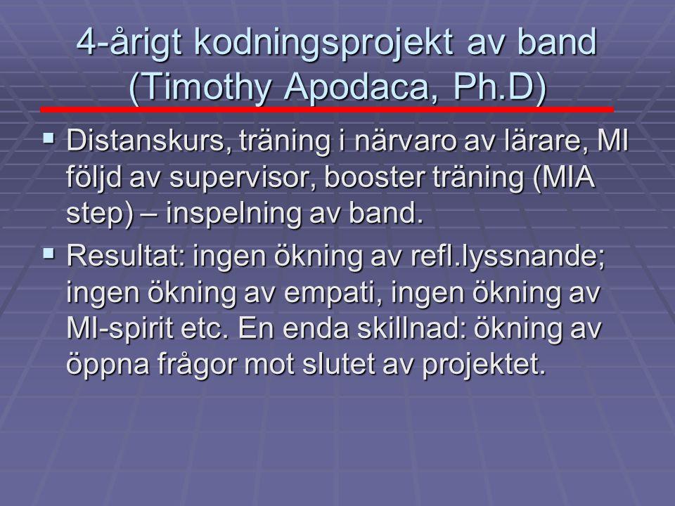 4-årigt kodningsprojekt av band (Timothy Apodaca, Ph.D)
