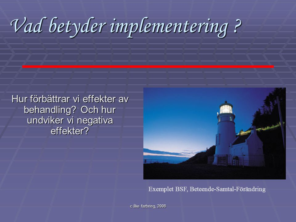 Vad betyder implementering