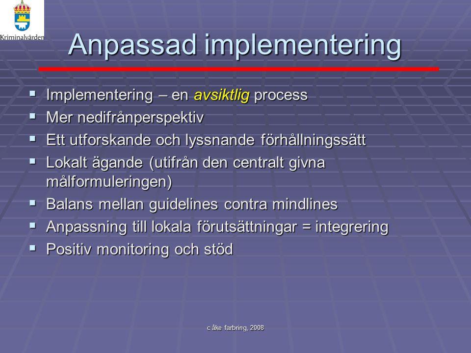 Anpassad implementering
