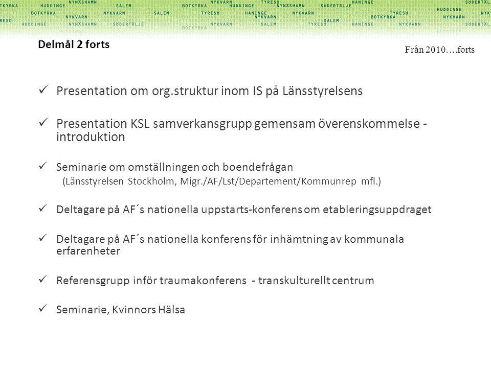 Presentation om org.struktur inom IS på Länsstyrelsens