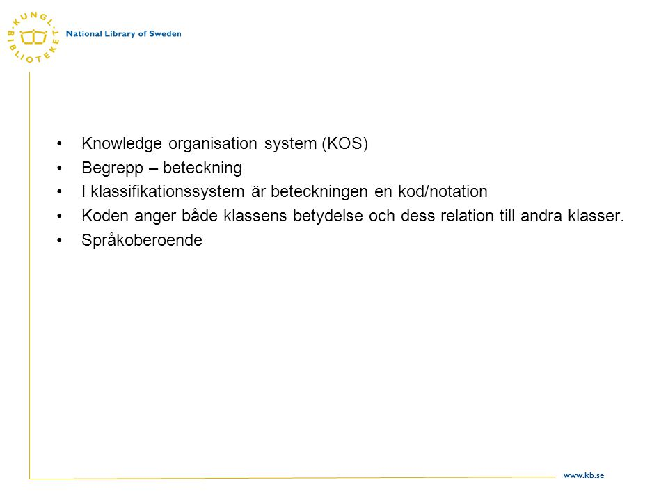 Knowledge organisation system (KOS)