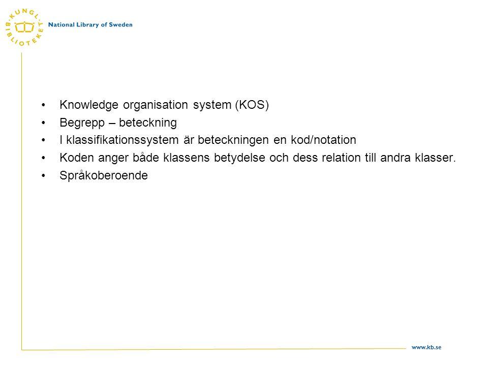 Knowledge organisation system (KOS)