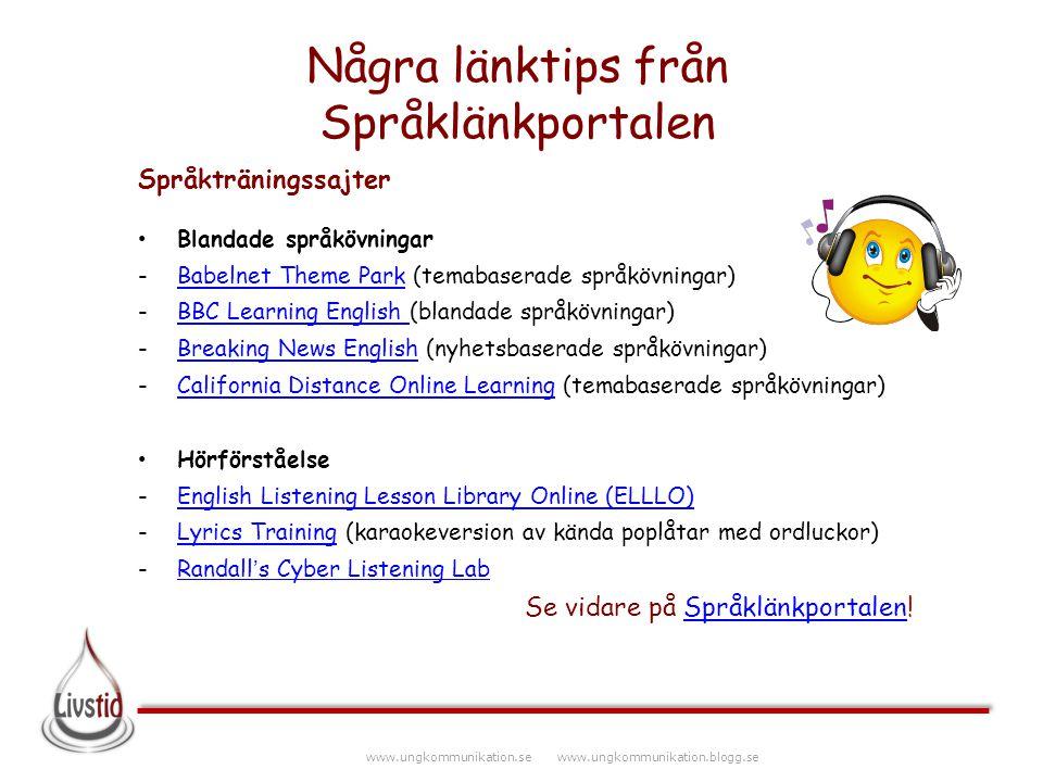 Några länktips från Språklänkportalen