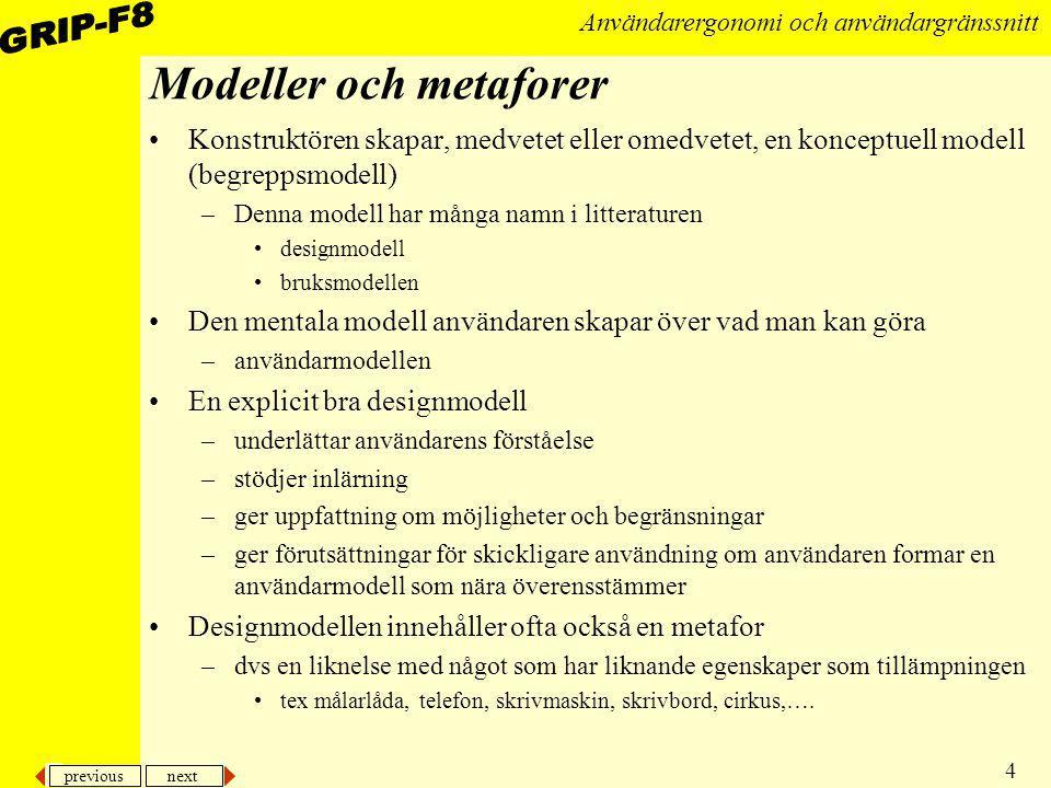 Modeller och metaforer