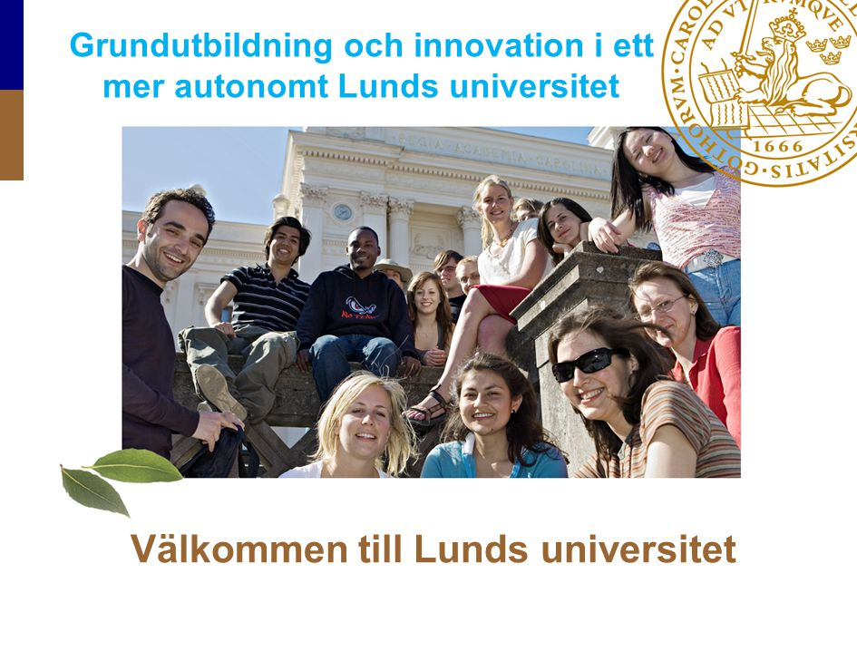 Välkommen till Lunds universitet