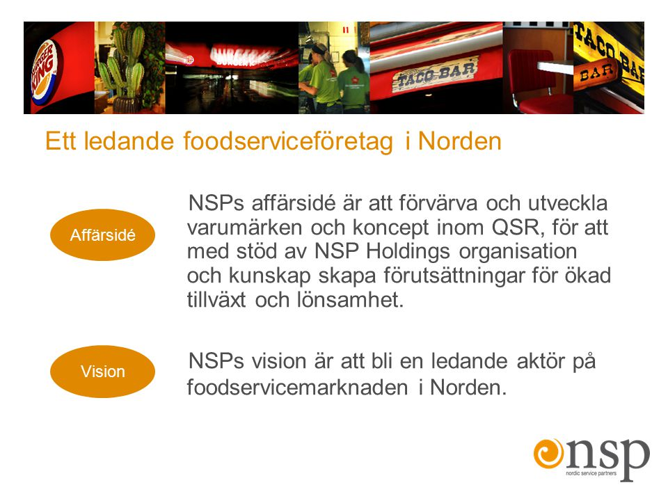 Ett ledande foodserviceföretag i Norden