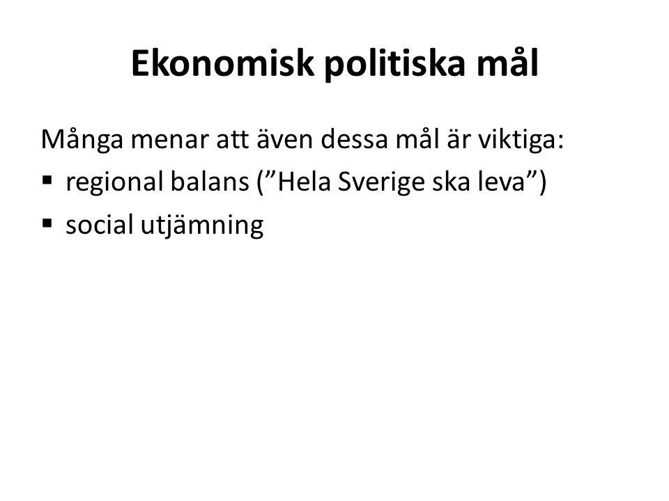 Ekonomisk politiska mål