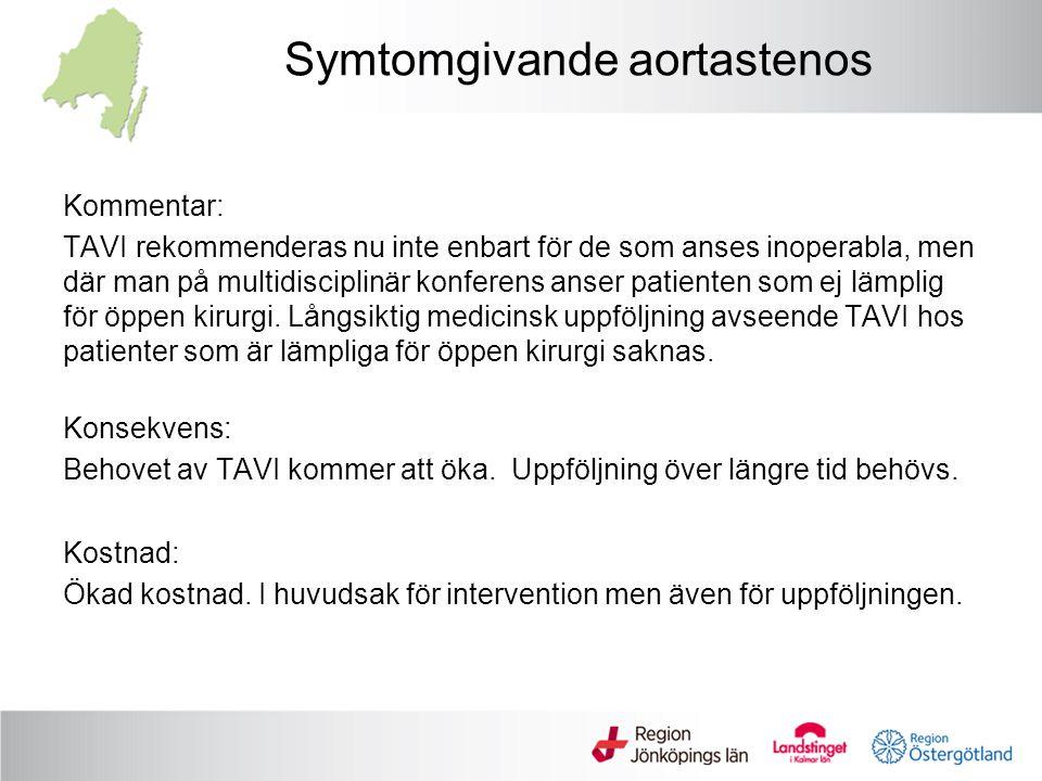 Symtomgivande aortastenos