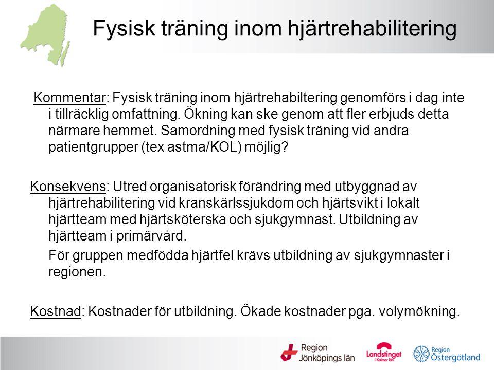Fysisk träning inom hjärtrehabilitering