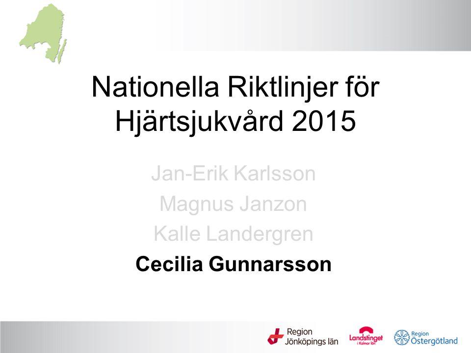 Nationella Riktlinjer för Hjärtsjukvård 2015