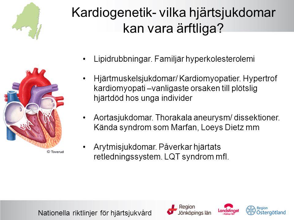 Kardiogenetik- vilka hjärtsjukdomar kan vara ärftliga