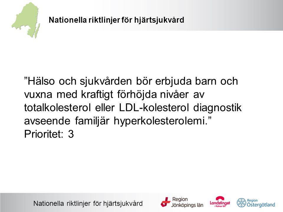 Nationella riktlinjer för hjärtsjukvård