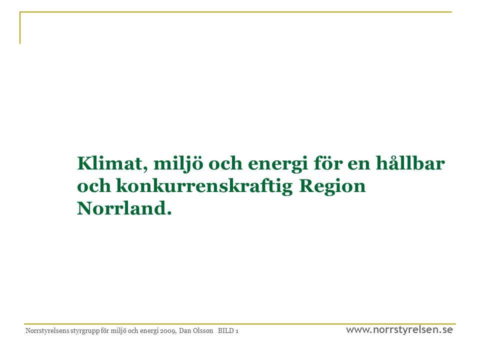 Klimat, miljö och energi för en hållbar. och konkurrenskraftig Region