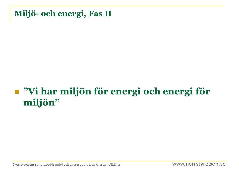Miljö- och energi, Fas II