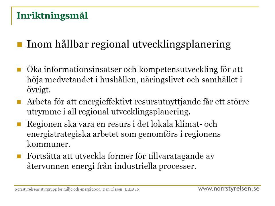 Inom hållbar regional utvecklingsplanering