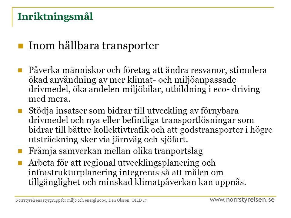 Inom hållbara transporter