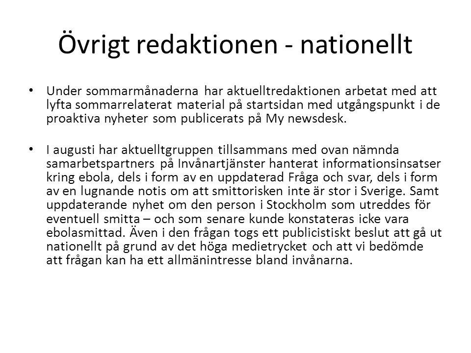 Övrigt redaktionen - nationellt