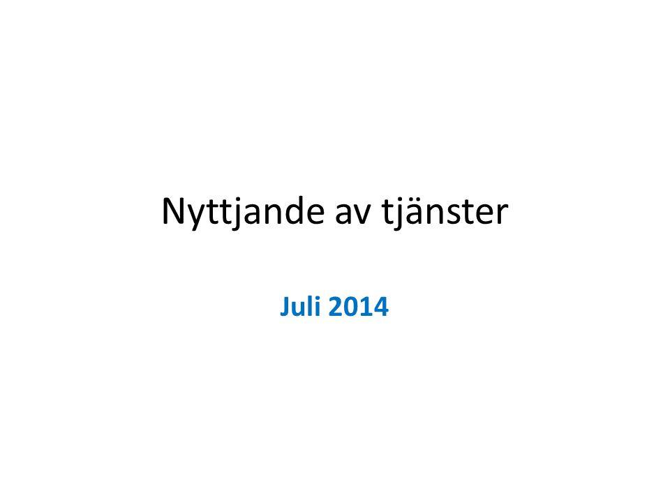Nyttjande av tjänster Juli 2014
