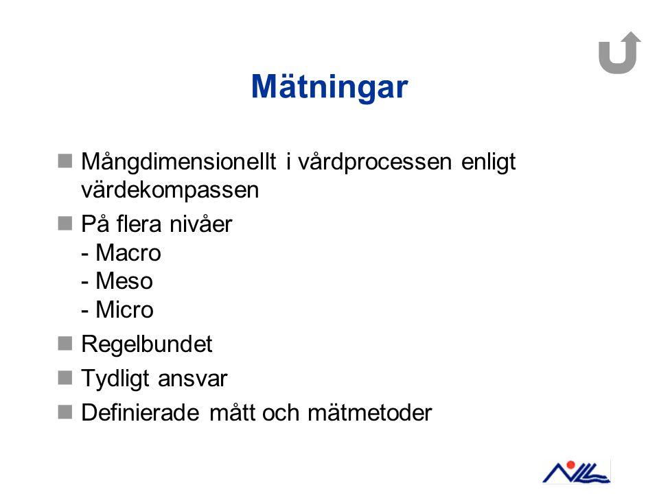 Mätningar Mångdimensionellt i vårdprocessen enligt värdekompassen