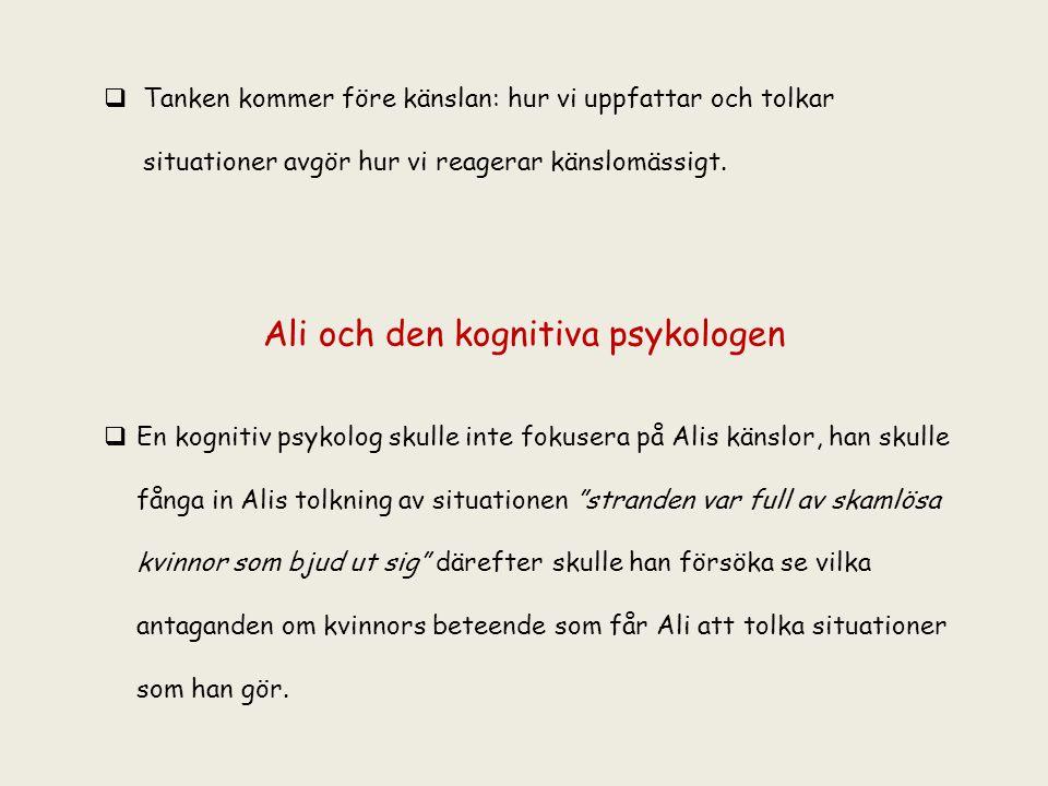Ali och den kognitiva psykologen
