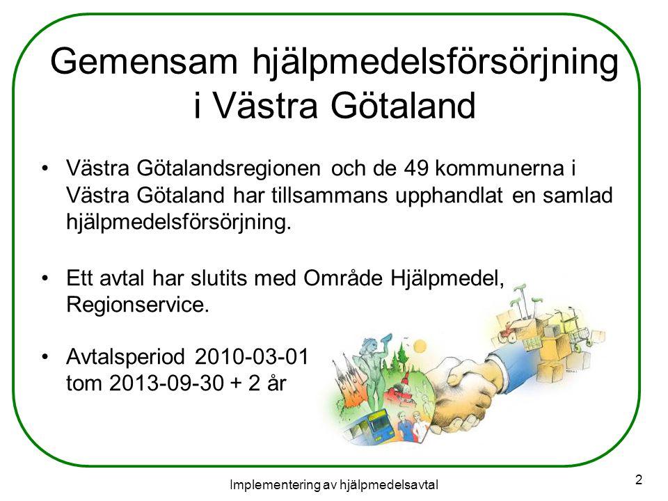 Gemensam hjälpmedelsförsörjning i Västra Götaland