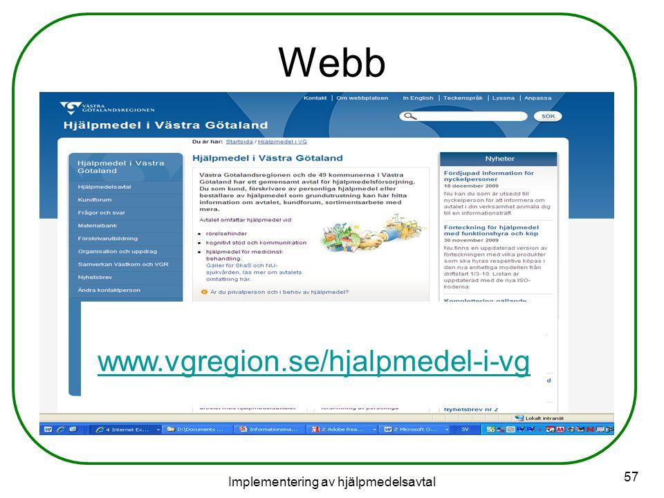 Implementering av hjälpmedelsavtal