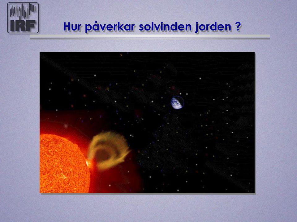 Hur påverkar solvinden jorden
